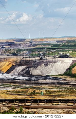 Garzweiler opencast mining lignite North Rhine-Westphalia Germany controversial energy production arouses protest among residents and environmental protection