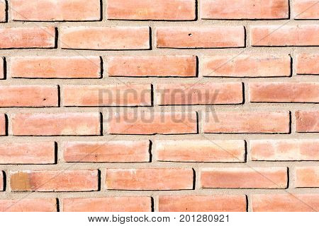 Background from an old and rugged red brickwall