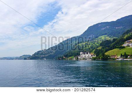 Landscape Of The Lake Luzern
