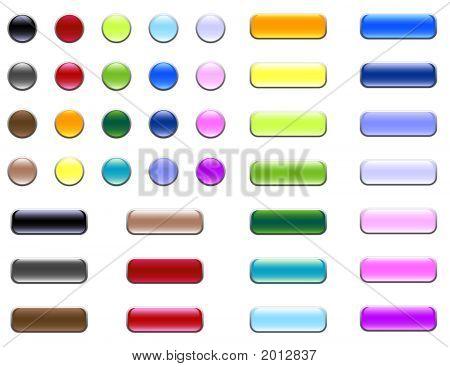 Assorted Glass/Gel Buttons