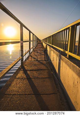 Footpath For Pedestrian Crossing On The Helio Serejo Bridge