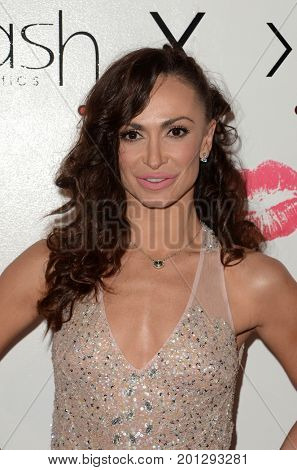 LOS ANGELES - AUG 21:  Karina Smirnoff at the Karina Collection with LA Splash Cosmetics Launch at the Sofitel Los Angeles on August 21, 2017 in Beverly Hills, CA