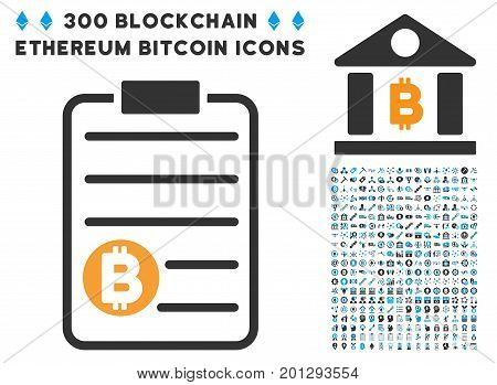 Bitcoin Price List icon with 300 blockchain, cryptocurrency, ethereum, smart contract graphic icons. Vector pictograph collection style is flat iconic symbols.