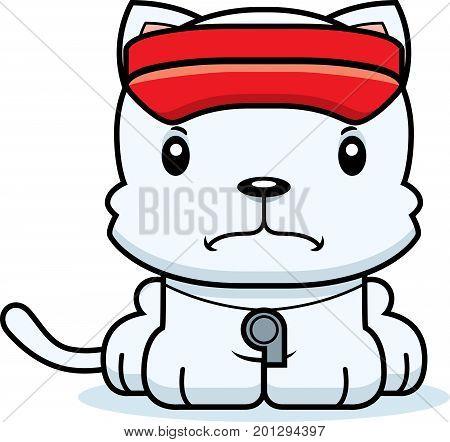 Cartoon Angry Lifeguard Kitten