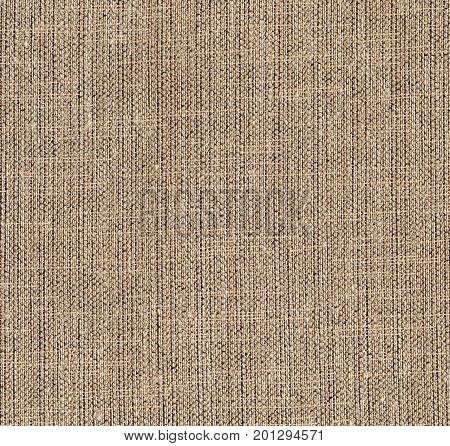 Canvas textile texture. Rough surface brown background