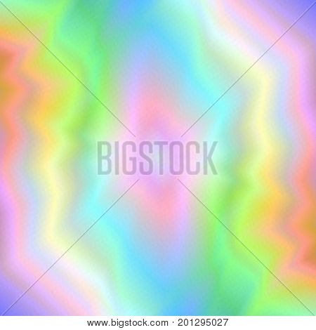Abstract Rainbow Pastel Background with Realistic Holographic Effect. Universal Abstraction.