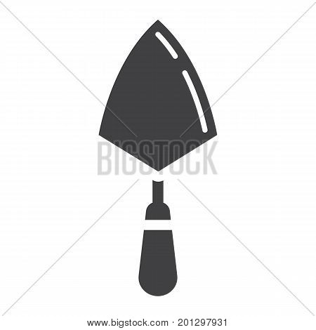 Trowel glyph icon, build and repair, bricklayer sign vector graphics, a solid pattern on a white background, eps 10.