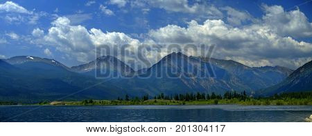 High mountain lake in Colorado in the Rocky Mountains