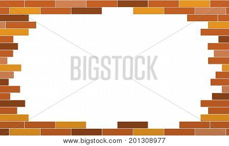 3d render of abstract bricks frame isolated