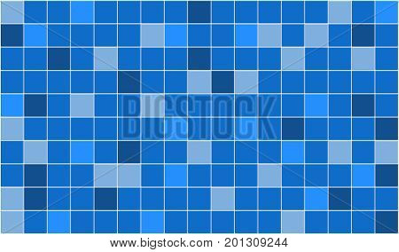 3d render of blue tiles texture with white gap