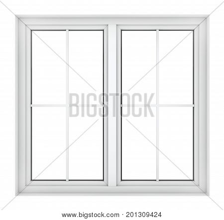 3d render of plastic window frame isolated on white background