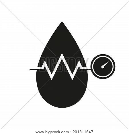 Icon of blood pressure. Drop, measurement, check-up. Healthcare concept. Can be used for topics like medicine, cardiology, disease