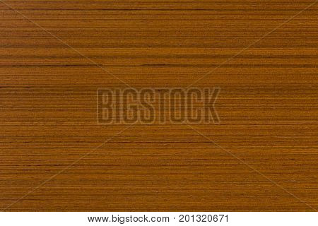 Teak veneer, natural wooden background on macro. Extremely high resolution photo.