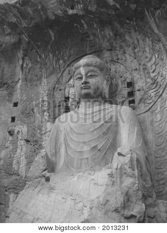 Seated Stone Buddha
