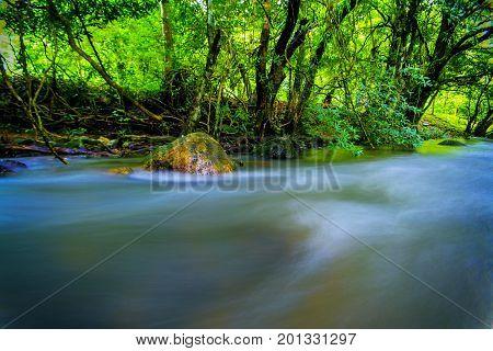 wangtakrai waterfall Nakhon Nayok Province Thailand .