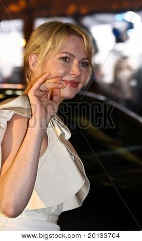NEW YORK - February 17: Actress Michelle Williams attends the 'Shutter Island' premiere at the Ziegfeld Theatre February 17, 2010 in New York City.