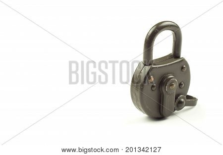 Green locked padlock. Security and data protection