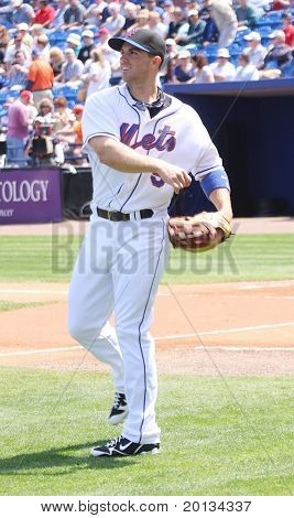 PORT ST. LUCIE, FLORIDA - MARCH 23: NY Mets third baseman David Wright throws a ball during a spring training game on March 23, 2010 in Port St. Lucie, FL.