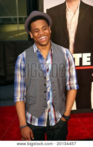 """Actor Tristan Wilds attends the movie premiere of """"Date Night"""" at the Ziegfeld Theatre on April 6, 2010 in New York City."""