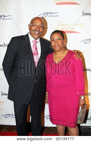 NEW YORK - MAY 3: William Bey and Pamela El attend the New York Gala benefiting the Steve Harvey Foundation at Cipriani's, Wall Street on May 3, 2010 in New York City.