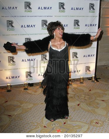 NEW YORK - MAY 13 : Singer Dame Shirley Bassey attends the Almay Concert to celebrate the Rainforest Fund's 21st birthday at the Plaza Hotel on May 13, 2010 in New York City.
