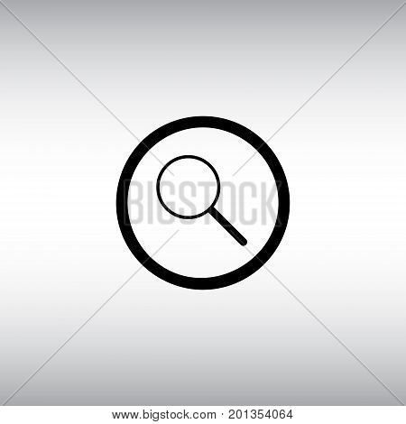 Loupe isolated vector icon. Magnify flat vector sign. Search button round vector image.