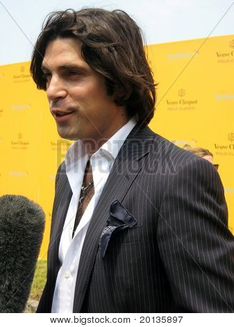 NEW YORK - JUNE 26: Argentine polo player Nacho Figueras attends the Veuve Clicquot Polo Classic at Governor's Island on June 26, 2010 in New York City.