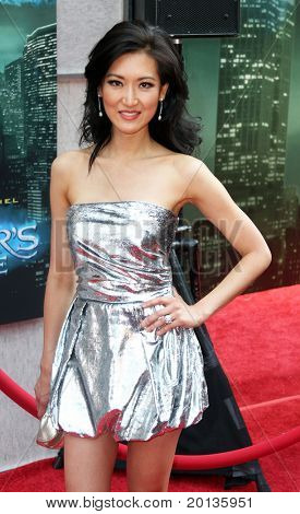 """NEW YORK - JULY 6: Reality TV host Kelly Choi attends the premiere of """"The Sorcerer's Apprentice"""" at the New Amsterdam Theatre on July 6, 2010 in New York City."""