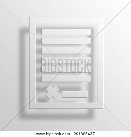 Business Contract 3D rendering Paper Icon Symbol Business Concept