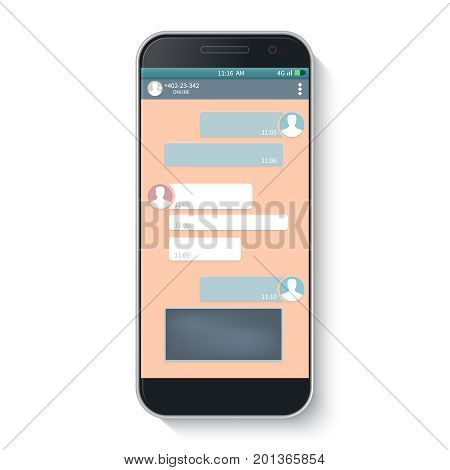 Messenger window. Blank template.Chating and messaging concept. Vector.