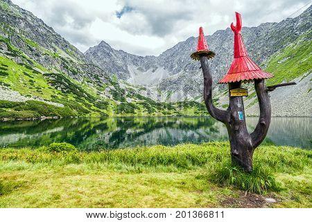 Beautiful Summer Lake In Mountains. High Tatras, Slovakia