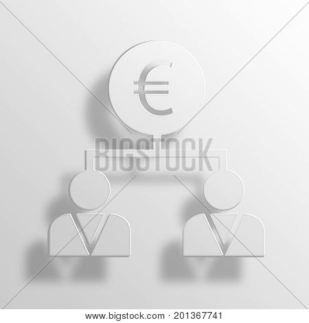 business strategy 3D rendering Paper Icon Symbol Business Concept