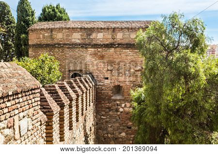 An Old Brick Fortification in Malaga Spain