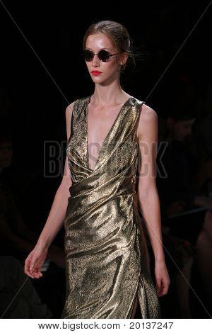 NEW YORK - SEPTEMBER 12: Mercedes-Benz Fashion Week presents Diane Von Furstenberg collections at Lincoln Center on September 12, 2010 in New York City.