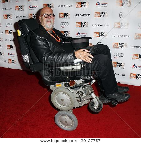 """NEW YORK - OCTOBER 10: Artist Chuck Close attends the premiere of """"Hereafter"""" at Alice Tully Hall at the New York Film Festival on October 10, 2010 in New York City."""