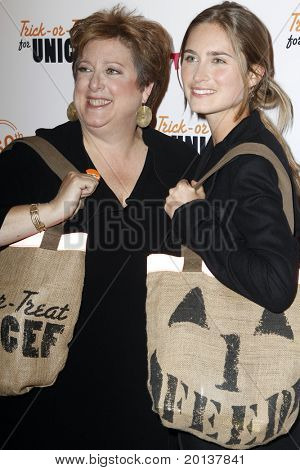 NEW YORK - OCTOBER 13: Caryl Stern and Lauren Bush attend the 60th Anniversary of Trick-or-Treat for UNICEF at The Xchange on October 13, 2010 in New York City.