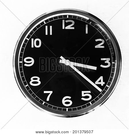 close up photo of clock.  black and white.