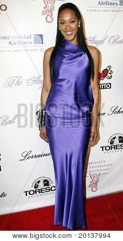 NEW YORK - OCTOBER 21: Singer Shontelle attends Angel Ball 2010,hosted by Gabrielle's Angel Foundation for Cancer Research at Cipriani's on October 21, 2010 in New York City.