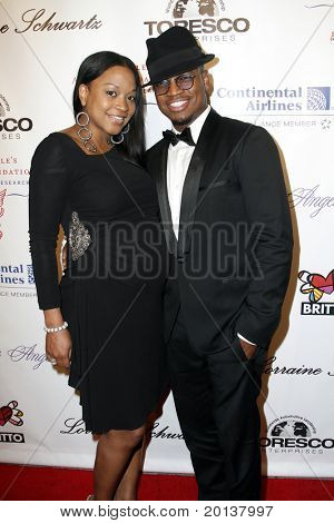 NEW YORK - OCTOBER 21: Monyetta Shaw and Ne-Yo attend Angel Ball 2010, hosted by Gabrielle's Angel Foundation for Cancer Research at Cipriani's on October 21, 2010 in New York City.