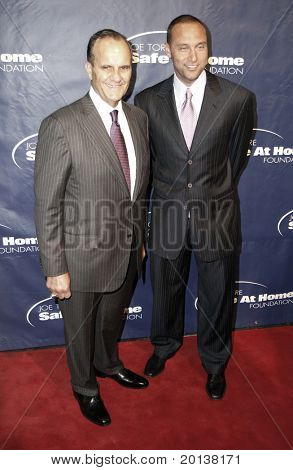 NEW YORK - NOV 11: Joe Torre and Derek Jeter attend the 8th Annual Joe Torre Safe at Home Foundation Gala at Pier Sixty at Chelsea Piers on November 11, 2010 in New York City.