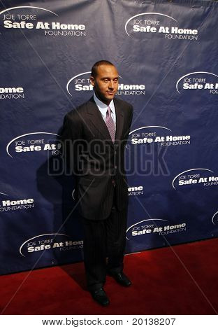 NEW YORK - NOV 11: Derek Jeter attends the 8th Annual Joe Torre Safe at Home Foundation Gala at Pier Sixty at Chelsea Piers on November 11, 2010 in New York City.