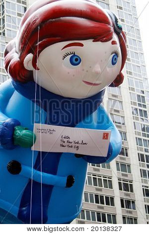 NEW YORK - NOVEMBER 25: The Virginia float appears in the 84th Macy's Thanksgiving Day Parade on November 25, 2010 in New York City.