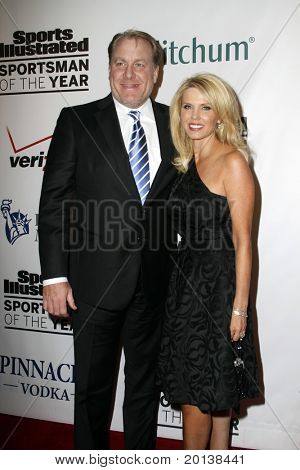 NEW YORK - NOVEMBER 30: Curt Schilling and wife Shonda attend the Sports Illustrated Sportsman of the Year Awards at the IAC Building on November 30, 2010 in New York City.