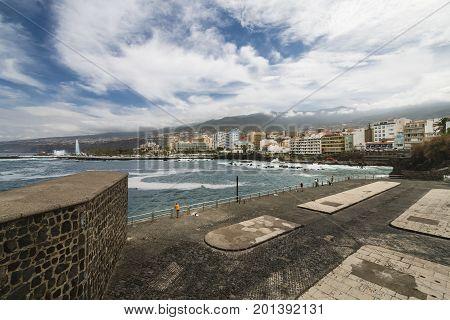 Puerto Del La Cruz In Tenerife, Spain, Editorial