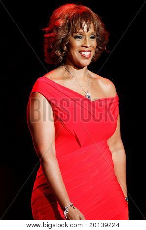 NEW YORK - FEBRUARY 9:  Gayle King walks the runway at The Heart Truth's Red Dress Fashion Show during Mercedes-Benz Fashion Week at Lincoln Center on February 9, 2011 in New York City.