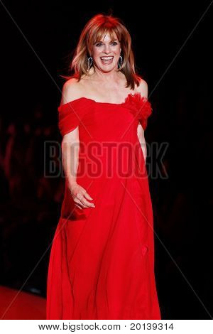 NEW YORK - FEBRUARY 9:  Linda Gray walks the runway at The Heart Truth's Red Dress Fashion Show during Mercedes-Benz Fashion Week at Lincoln Center on February 9, 2011 in New York City.