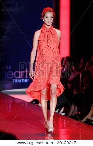 NEW YORK - FEBRUARY 9:  Actress Eva Amurri walks the runway at The Heart Truth's Red Dress Fashion Show during Mercedes-Benz Fashion Week at Lincoln Center on February 9, 2011 in New York City.