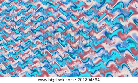 Neon waves. Illusion. Deformation time and space. 3D surreal illustration. Sacred geometry. Mysterious psychedelic relaxation pattern. Fractal abstract texture. Digital artwork graphic astrology magic