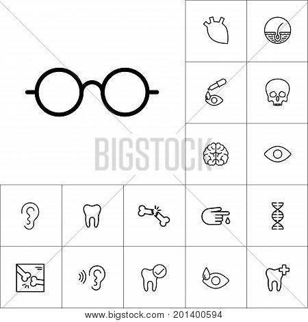 Glasses Icon On White Background