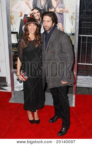 NEW YORK, NY - APRIL 5: Zoe Buckman and David Schwimmer attend the New York premiere of 'Arthur' at the Ziegfeld Theatre on April 5, 2011 in New York City.